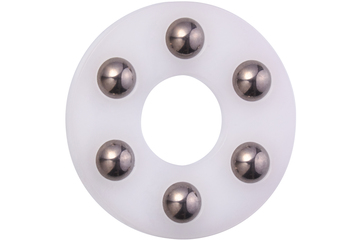 xiros® thrust washer, xirodur B180, balls made of stainless steel, mm