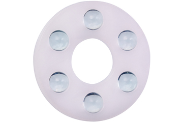 xiros® thrust washer, xirodur B180, balls made of glass, mm
